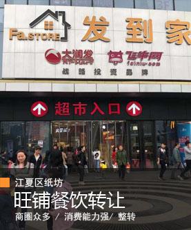 (个人)江夏区纸坊九全嘉国际广场旺铺餐饮转让